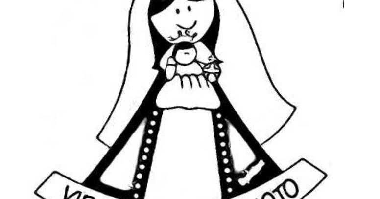 Colorear Dibujos Infantiles: Dibujos Colorear Virgen De Coromoto