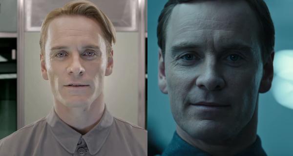 Michael Fassbender incarne deux androïdes jumeaux dans Prometheus (2012) et Alien : Covenant (2017)