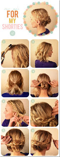 #3 updo for short hair