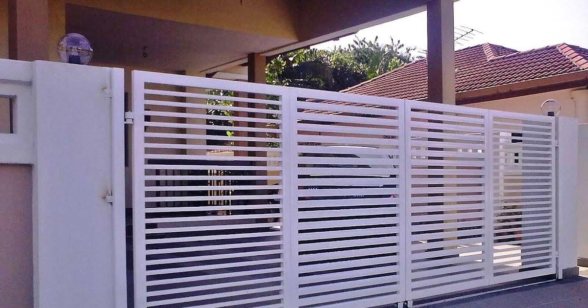 Model Pagar Rumah Minimalis Warna Putih  12 ide model pagar besi warna putih pagar besi