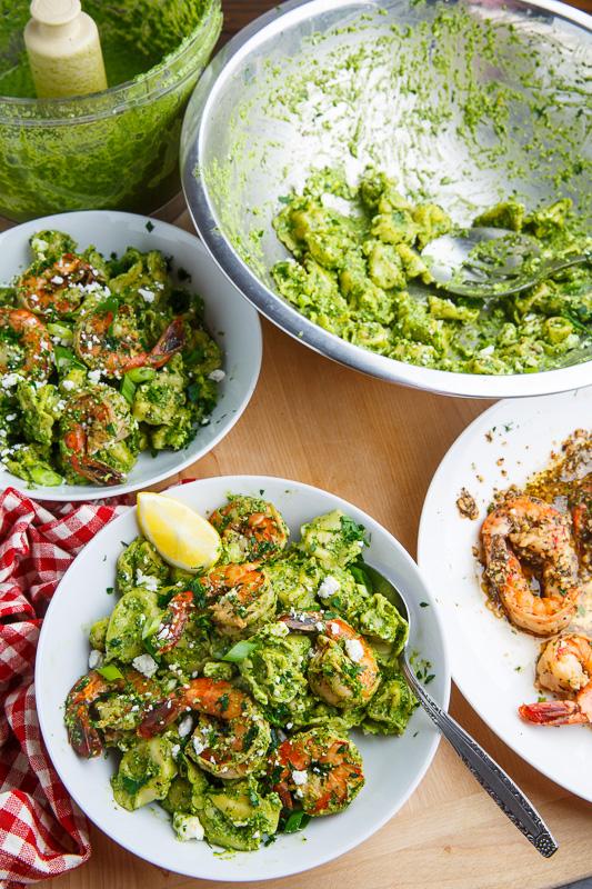 Spinach Pesto, Feta and Shrimp Tortellini on Closet Cooking