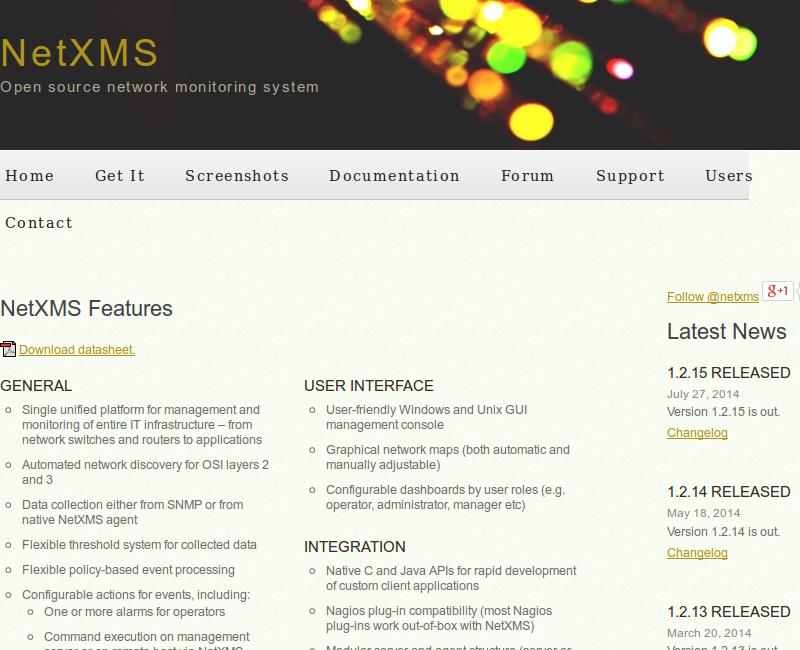 NetXMS é uma ferramenta livre (yes!) que fornece recursos desejáveis para um software de monitoramento