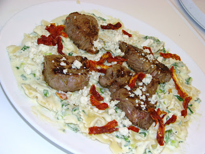 Steak and Gorgonzola Pasta