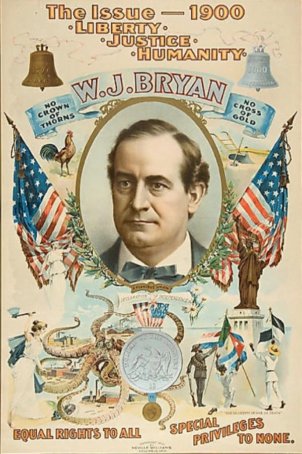 William Jennings Bryan campaign poster