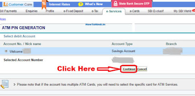how to change sbi atm pin through internet banking