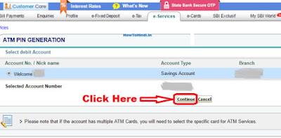 how to change sbi atm pin through internet banking