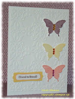 Stamp with Trude, Stampin' Up!, Friendship card, Teeny Tiny Wishes, SSC41