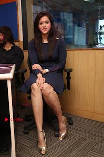 Actress Mannara Chopra Stills in Blue Short Dress at Rogue Song Launch at Radio City 91.1 FM  0054.jpg