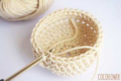 Tuto DIY - coquetier cocotte de Pâques au crochet - ChezCocoFlower.blogspot
