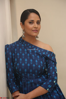 Anchor Anasuya in a Blue Gown at Jai Lava Kusa Trailer Launch ~  Exclusive Celebrities Galleries 058.JPG