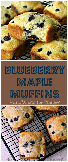 Secret Recipe Club- Blueberry Maple Muffins