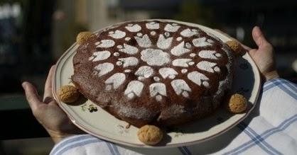 Torta amaretti e cioccolato di Elda
