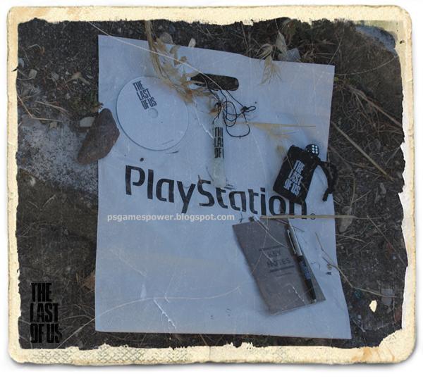 (Caneta decorada ao tema The Last of Us, dado viciado com bolsa decorada ao tema de The Last of Us, tubo flurescente, pequeno manual de concelhos chave para o jogo, CD de conteúdos do jogo)