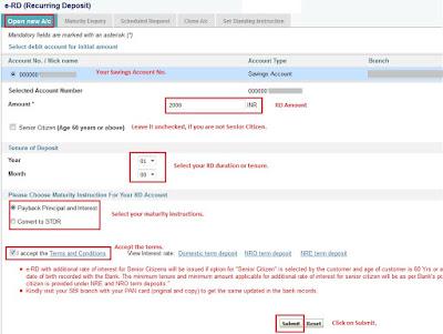 eRD details in SBI