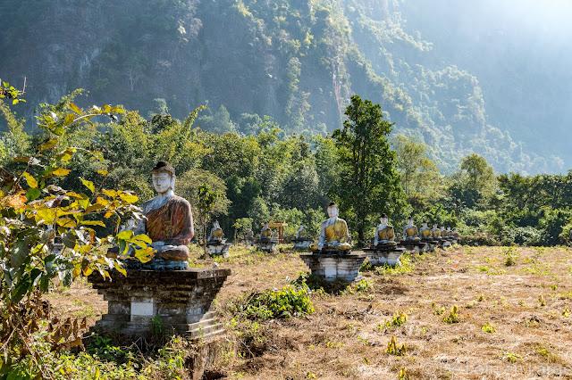 Lumbini garden et le Mont Zwe Ka Bin - Hpa An - Myanmar Birmanie