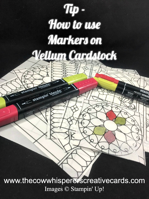 Tip, Markers on Vellum, Stampin Blends, Stampin Write, Video