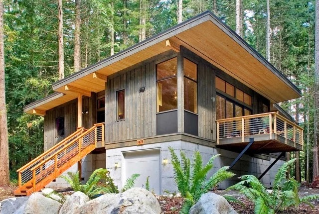 Some Parts Of The World Wooden Houses Are Very Modern.They Are Designed  Just Like
