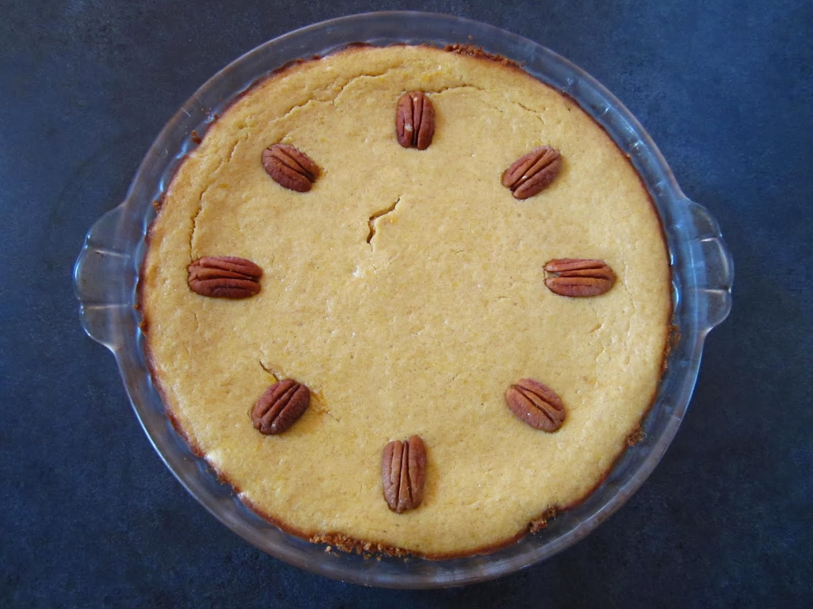 Pumpkin Cheesecake Pie with Ginger-Pecan Crust