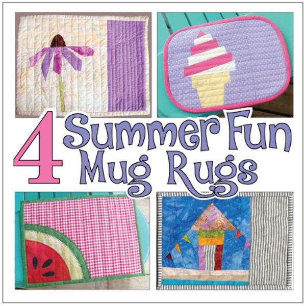 four summer mug rug patterns book