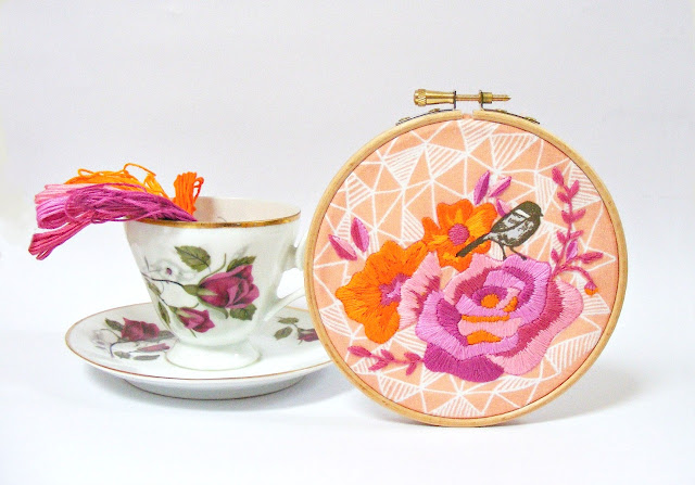 embroidery, floral embroidery, embroidery kit, Jenny Blair