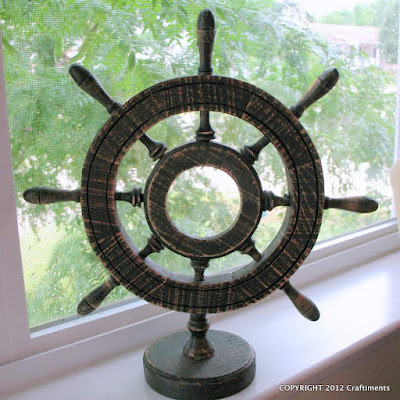 Craftiments.com:  Ship Wheel Makeover