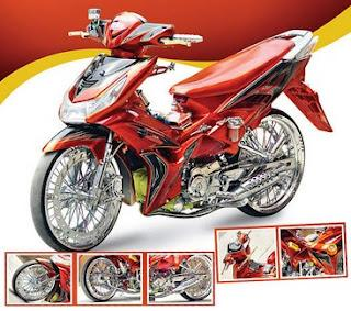 Gambar Modifikasi Shogun 125 Warna Merah