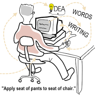 "Writing discipline: ""Apply seat of pants to seat of chair."""