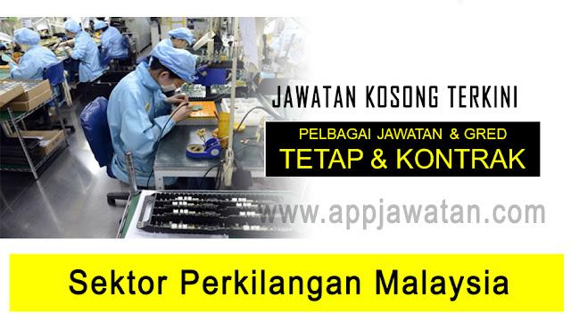 Jawatan Kosong di sektor perkilangan di malaysia