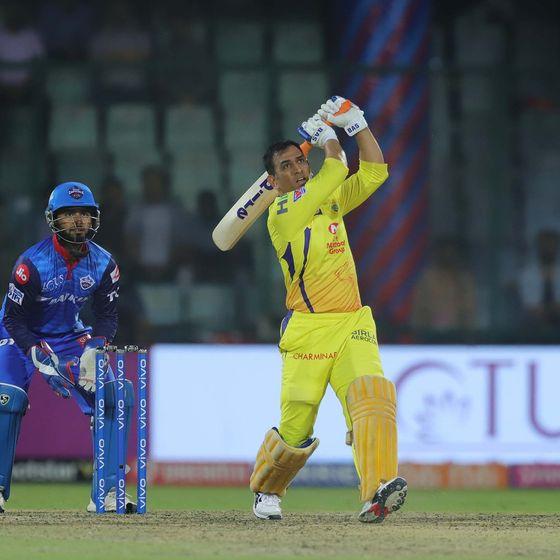 धोनी ने दिल्ली के खिलाफ नाबाद 32 रन बनाए