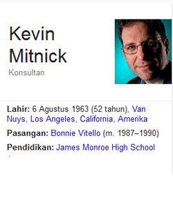 Biografi dan kisah hidup Kevin Mitncik