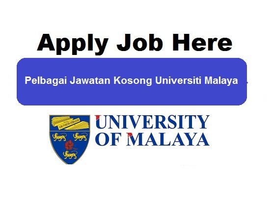 pelbagai jawatan kosong universiti malaya - apply job here