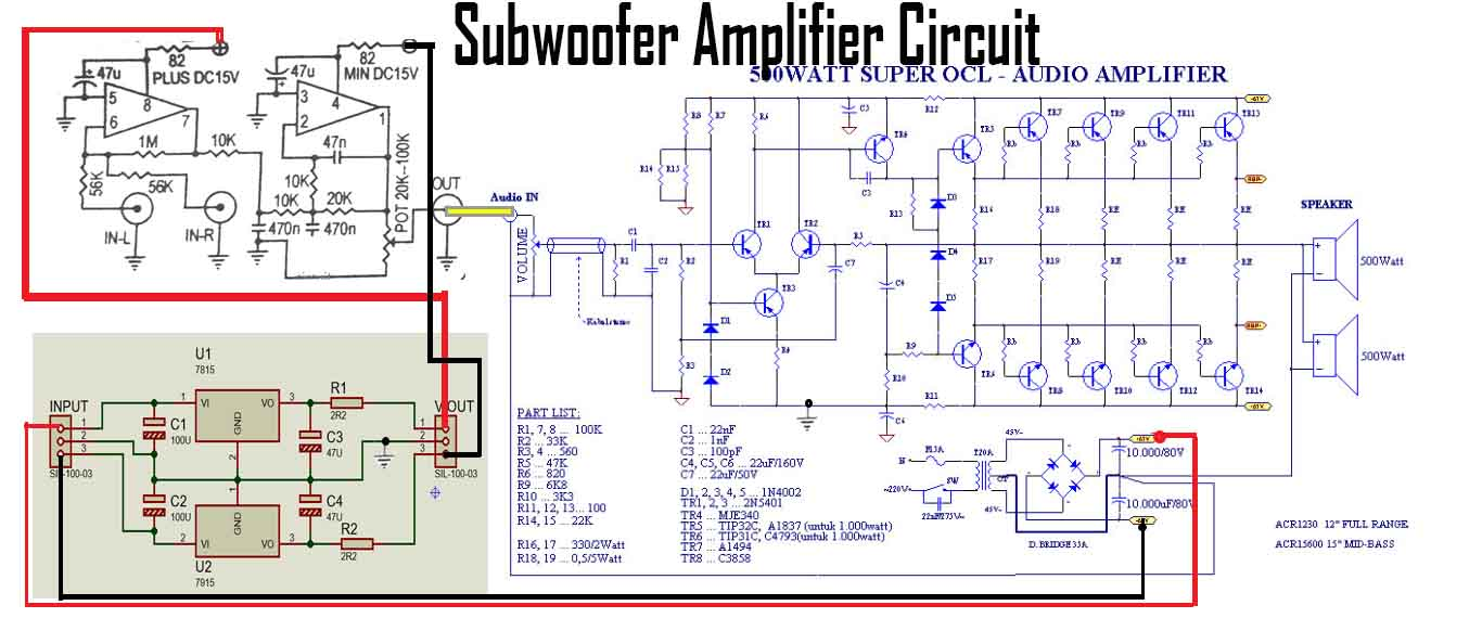 hight resolution of subwoofer power amplifier circuit