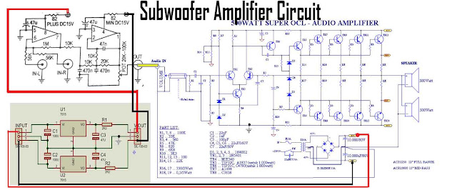 Subwoofer Power Amplifier Circuit