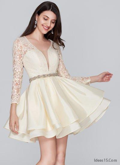956f6c480 Vestidos de xv años sencillos cortos. Modelos modernos para fiesta