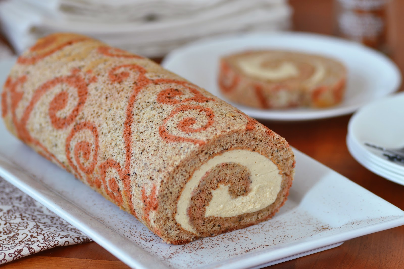 Jelly Roll Cake Whipped Cream Filling