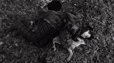William Blake grieves over a dead fawn (reminiscent of Thel Russell), Dead Man, Directed by Jim Jarsmusch