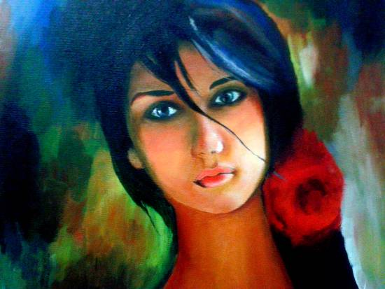 Behind my Eyes, painting by Megha Gupta (part of her portfolio on www.indiaart.com)