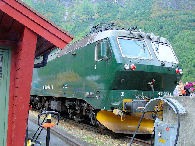 All aboard the Flåm Railway in Norway, one of the world's most scenic railway journeys! Content and photography are the property of EuroTravelogue™. Unauthorized use is prohibited.