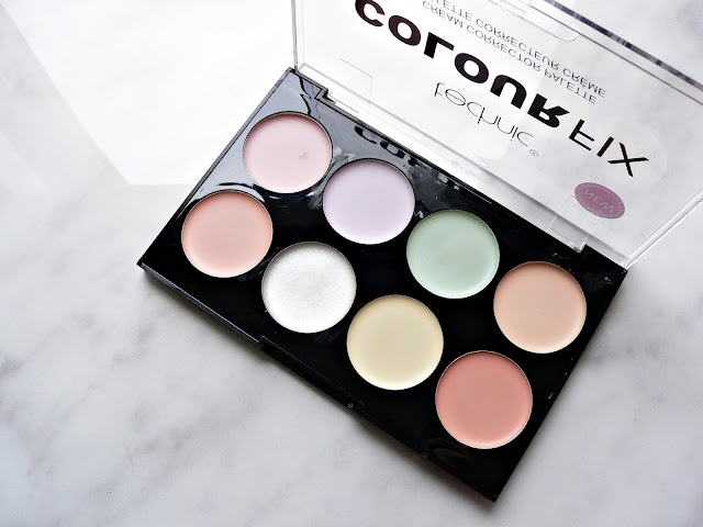 Technic cream corrector palette kit colour fix review swatches color correct make-up budget