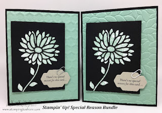 Create and Easy and Elegant Card with Stampin' Up! Special Reason Bundle with How To Video by Kay Kalthoff of Stamping to Share.