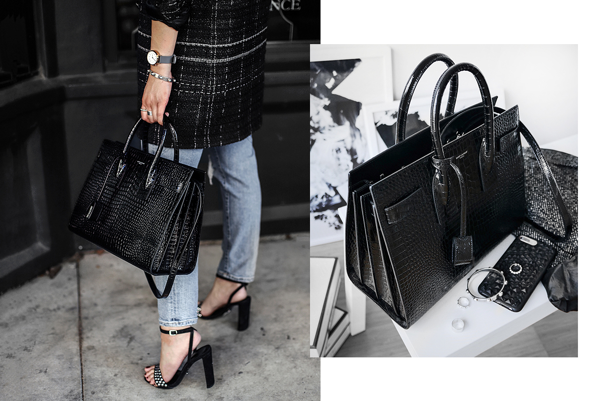 e4aa5e264350a I ve been eyeing the Saint Laurent Sac du Jour in embossed croc for awhile  now and finally pulled the trigger last week when I was shopping on the ...