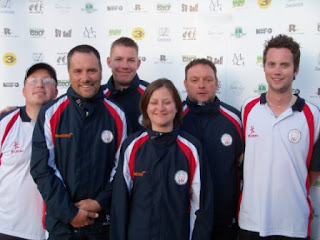Great Britain 2 (from l-r Björn Dinau, Tony Kelly, Richard Gottfried, Emily Gottfried, Scott Lancley, Eirik Seljelid)