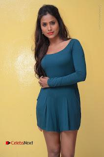 Telugu Actress Prasanthi Stills in Green Short Dress at Swachh Hyderabad Cricket Press Meet  0037.JPG