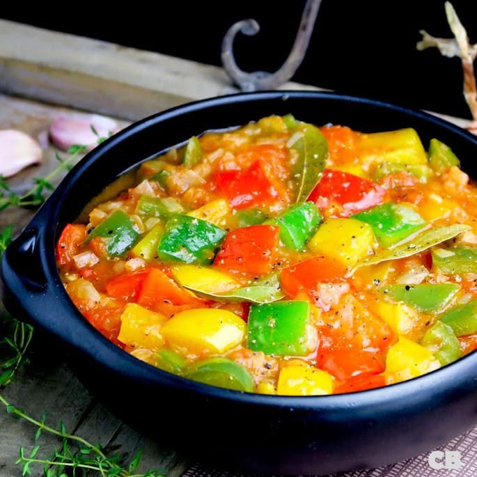 Peperonata, Italiaanse stoofpot van paprika's en tomaten