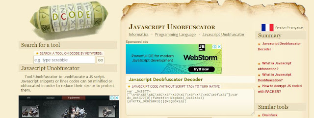 Javascript Deobfuscator Terbaik Versi Galih Design