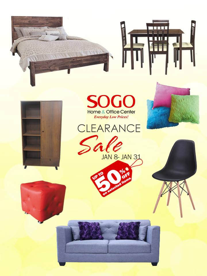 Manila Shopper Sogo Furniture Clearance Sale Jan 2018
