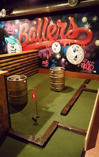 Indoor Crazy Golf course at Roxy Ball Room