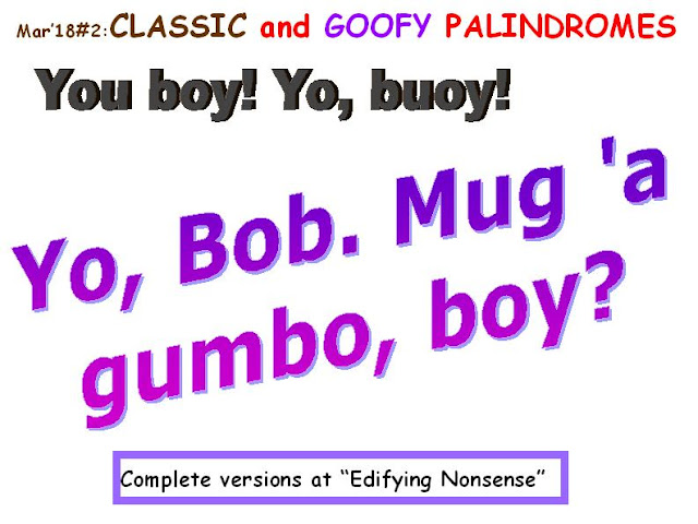 CLASSIC: You boy; Yo!, buoy.  GOOFY: Yo, Bob: Mug a' gumbo boy?