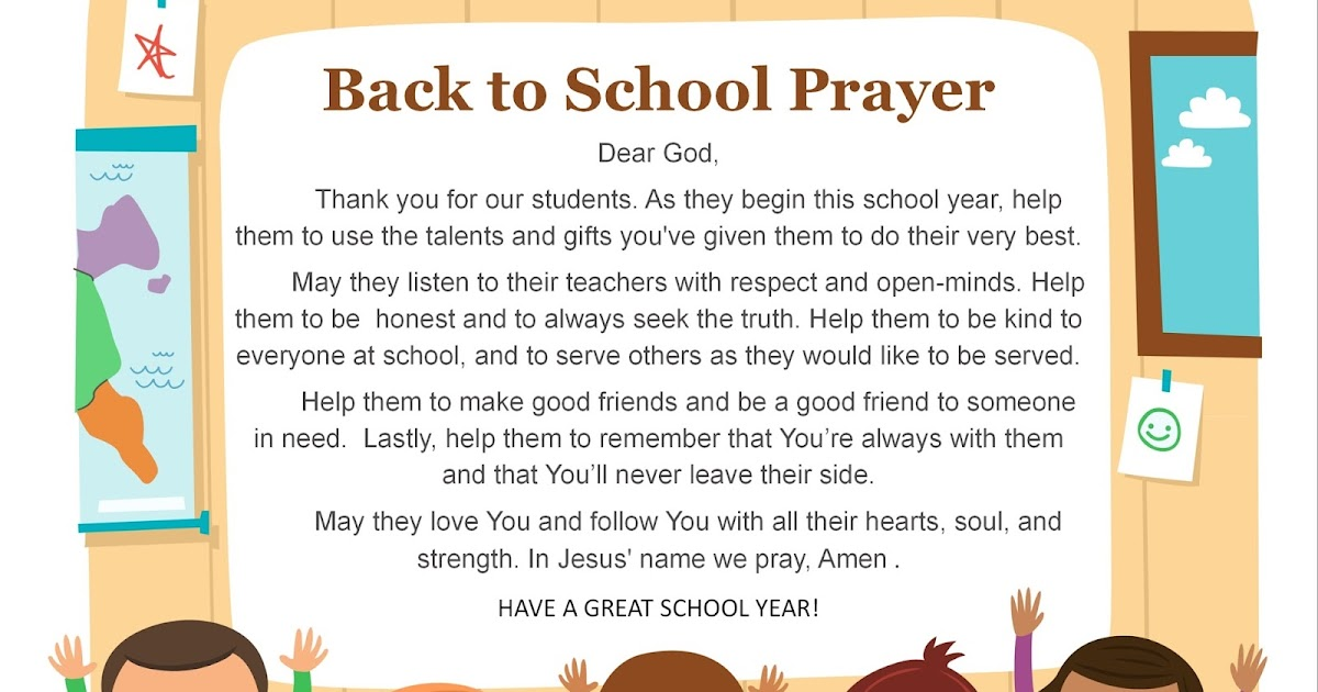 Unto Grace: Thoughtful Thursday: Back to School Prayer and