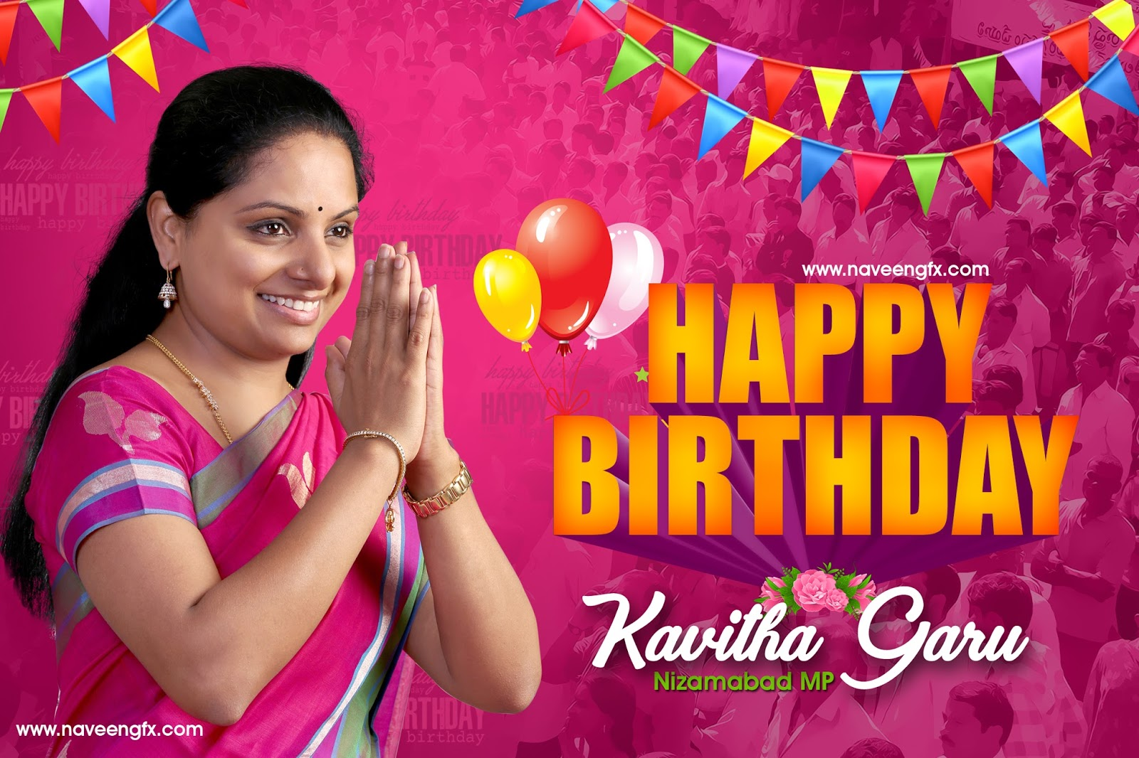 Kalvakuntla Kavitha Birthday Wishes Hd Wallpapers And Posters Naveengfx
